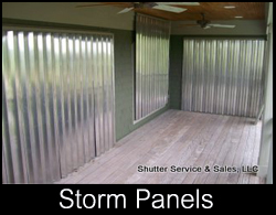 hurricane storm panels charleston sc