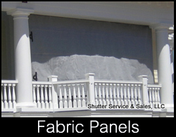 fabric panels used as hurricane storm screen